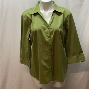Olive Green Button down Shirt